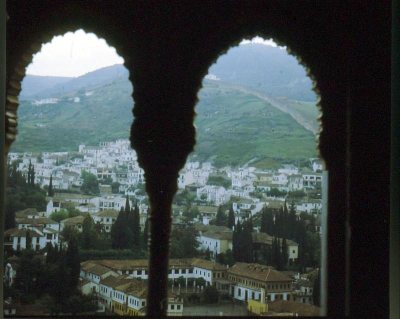 1984 Andalousie - Grenade vue de l'Alhambra